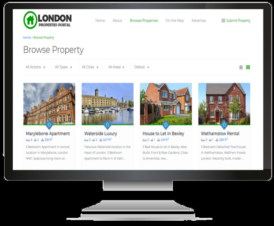 London Properties Portal
