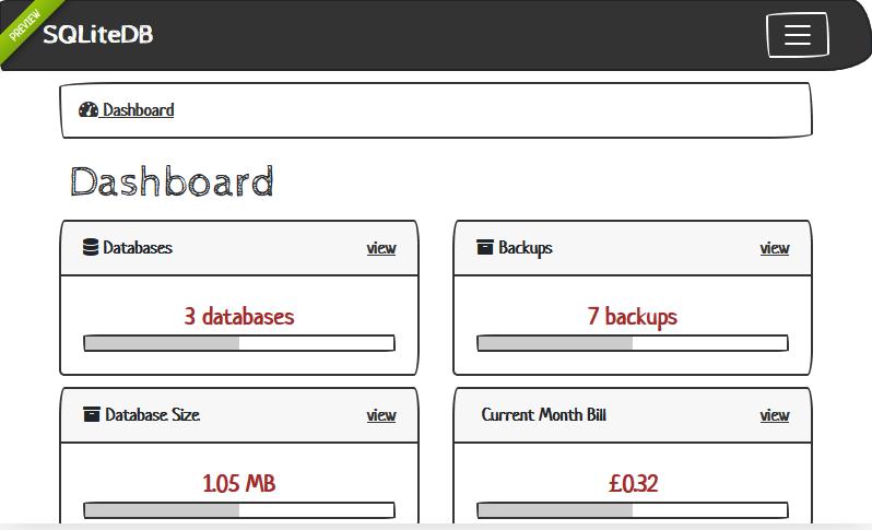 SQLIteDB   Dashboard