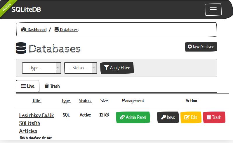 SQLiteDB   Database Manager