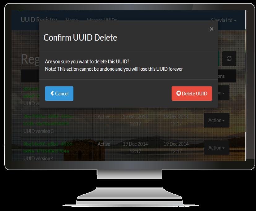 UuidRegistry - Create UUID Page