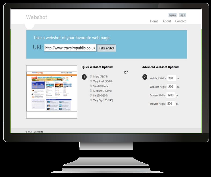 Webshot - Taking Webshot